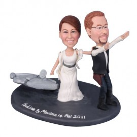Custom Star War Wedding Cake Toppers