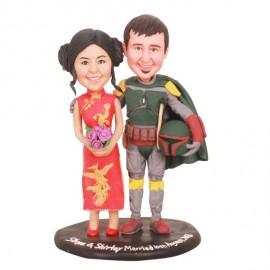Custom Star War Themed Wedding Cake Toppers