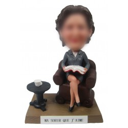 Personalized Custom Office Bobbleheads for Women