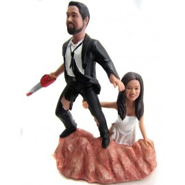 Custom Army Of Darkness Wedding Cake Toppers