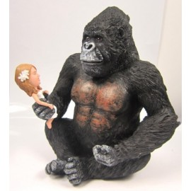 King Kong Hold Bride In Hand Wedding Cake Toppers