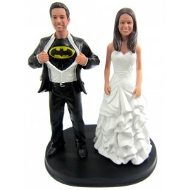 Batman Bride And Groom Wedding Cake Toppers