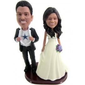 Custom Superhero Wedding Cake Toppers