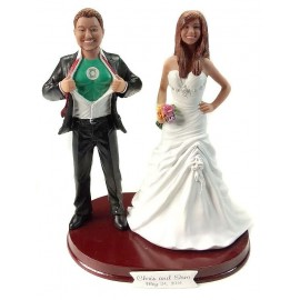 Funny Superhero Wedding Cake Toppers
