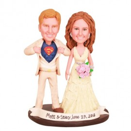 Funny Superman Wedding Cake Toppers