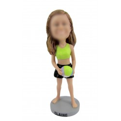 Personalized Custom Tennis Bobbleheads for Women