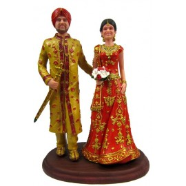 Indian Themed Wedding Cake Toppers