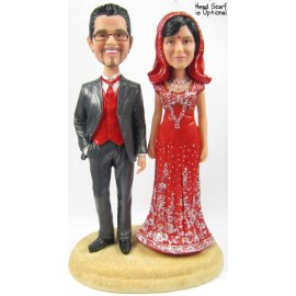 Indian Sari Bride Themed Wedding Cake Toppers