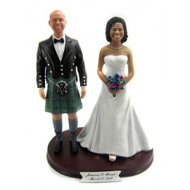 Scottish Kilt Wedding Cake Toppers