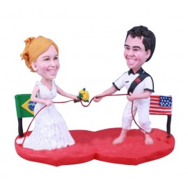 Multi National and Ethnic Wedding Cake Toppers