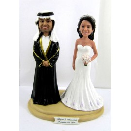 Arabic Ethnic Wedding Cake Toppers