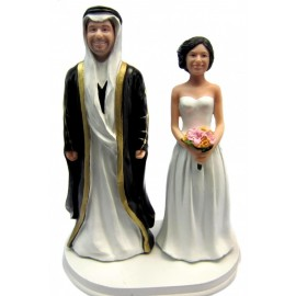 Custom Arabic Ethnic Wedding Cake Toppers