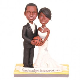Custom Black Wedding Cake Toppers