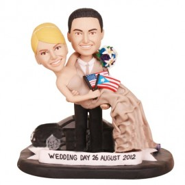 Custom Patriotism and Culture Theme Wedding Cake Toppers