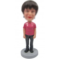 Personalized Custom Leisure Bobbleheads for Woman