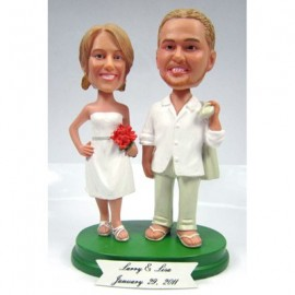 Unique Bride And Groom Beach Personalised Wedding Cake Toppers