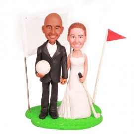 Custom Golf Themed Wedding Cake Toppers