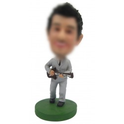 Personalized Custom Musician Bobbleheads for Man