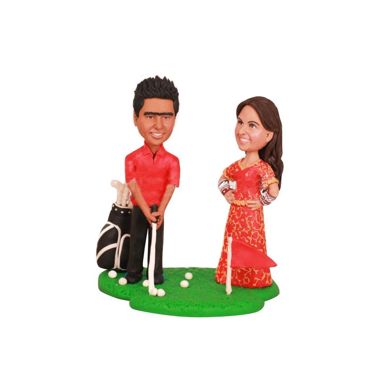 Golf Bride And Groom Wedding Cake Toppers