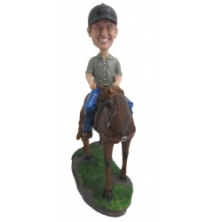 Personalized Custom Horse Bobbleheads for Man