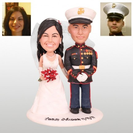 Marine Corps Personalised Wedding Cake Toppers