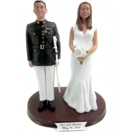 Army Officer Military Custom Wedding Cake Toppers