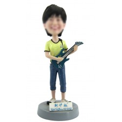 Personalized Custom Musician Bobbleheads For Woman