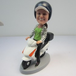 Personalized Custom Motorcycle Bobbleheads For Woman