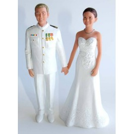 Marine Custom Wedding Cake Toppers