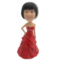 Personalized Custom Gown Bobbleheads for Woman