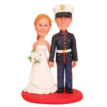 Marine Corps Custom Wedding Cake Toppers