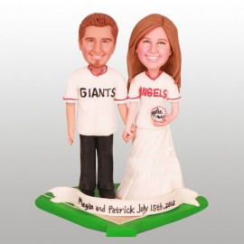 Baseball Bride And Groom Wedding Cake Toppers