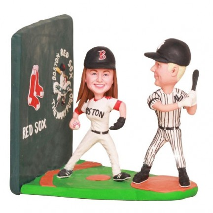 Yankees and Boston Red Sox Baseball Wedding Cake Toppers