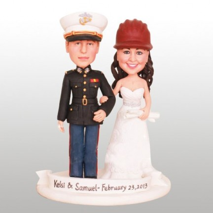 Marine Corps Military Custom Wedding Cake Toppers