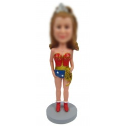Personalized Custom Ethnic Bobbleheads for Woman