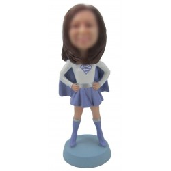Personalized Custom Superwoman Bobbleheads