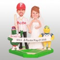 Phillie Phanatic and Buster Baseball Wedding Cake Toppers
