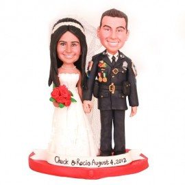 Personalised Police Wedding Cake Toppers Bride And Groom