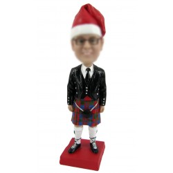 Personalized Custom Christmas Bobbleheads for Man