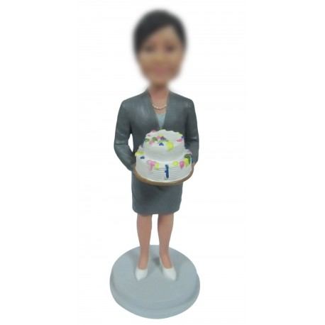 Personalized Custom Christmas Bobbleheads For Woman
