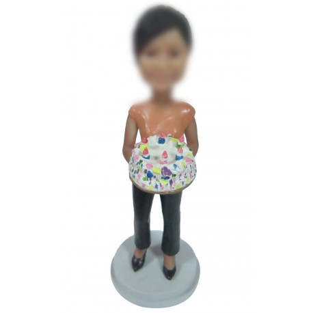 Personalized Custom Birthday Bobbleheads For Woman