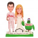 Personalised Baseball Bride And Groom Wedding Cake Toppers