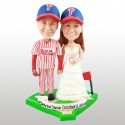 Personalised Baseball Bride And Groom Wedding Cake Toppers