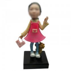 Personalized Custom Chrild Bobbleheads for Girl