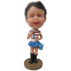 Personalized Custom Baby Bobbleheads for Girl