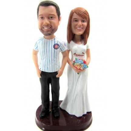 Custom Baseball Wedding Cake Toppers