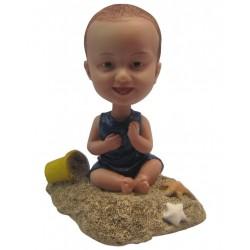 Personalized Custom Baby Bobbleheads for Girl