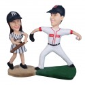 Boston Red Sox and New York NY Yankees Wedding Cake Toppers