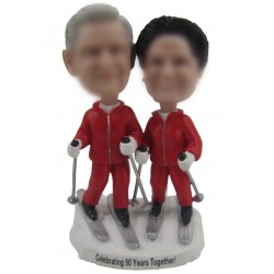 50th Gold Wedding Anniversary Cake Toppers