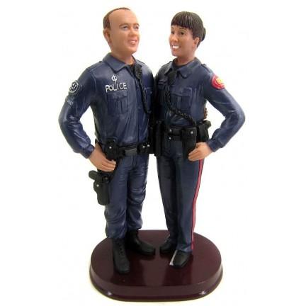 Custom Police Wedding Cake Toppers Bride And Groom